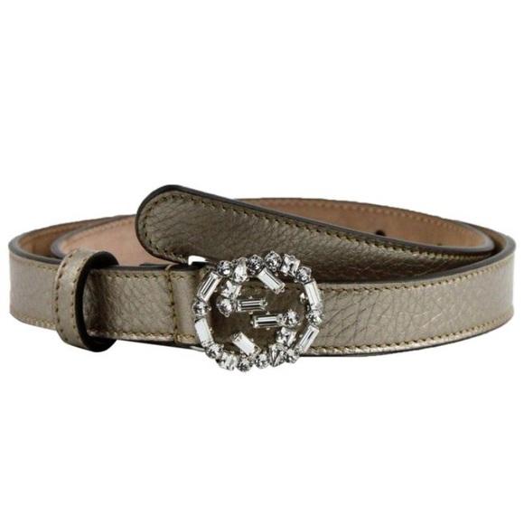 feb27db32 Gucci Accessories | Beige Metallic Leather Belt | Poshmark